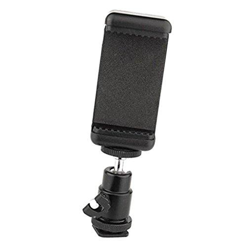 MagiDeal Soporte para Clip de Teléfono Adaptador de Zapata Cabeza Esférica para Cámara Nikon DSLR