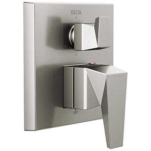 Delta Faucet T24943-SS Trillian Two-Handle Monitor 14 Series Valve 6-Setting Shower Trim with Diverter, Stainless