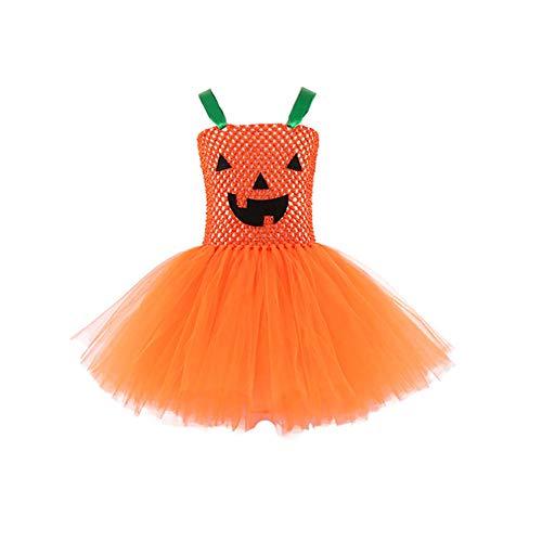song rong Mädchen Kürbis Tutu Kleid Ärmellos Formelle Kleidung Kleider Für Geburtstags-Party Halloween 140 cm 1pc