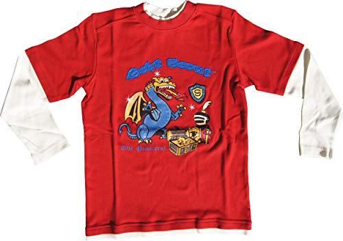 Scout Lagenshirt Langarmshirt rot-weiß Gr. 128