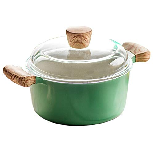 SHYOD FREE Stainless Steel Stock Pot w/Lid Cook Lid Stainless Steel Casserole Stockpot Silver (Size : Large)