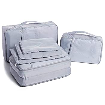 CAMEL CROWN 6 Pcs Set Packing Cubes Luggage Organizer for Travel Lightweight Durable Storage Bags