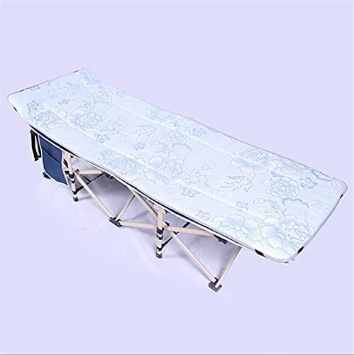Nueva cama plegable multifuncional portátil, sillón reclinable de la siesta de oficina, cama plegable individual al aire libre simple, cama lateral de metal de metal de metal, cama plegable reforzada,