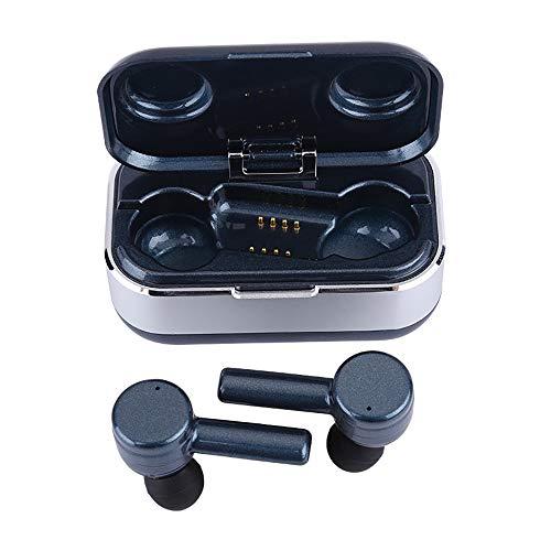 DYB Bluetooth 5.0 Wireless Kopfhörer, TWS Earbuds Sport Ear-In Kopfhörer mit tragbarer Ladehülle, 3D Rauschunterdrückung, IPX7 wasserdicht, integriertes Mikrofon, automatische Paarung,
