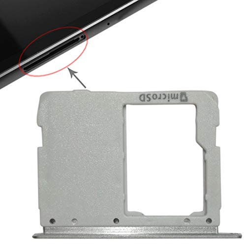 un known Micro SD Card Tray for Galaxy Tab S3 9.7 / T820 (WiFi Version) Accessory Renewal Repair for Telephone (Color : Silver)