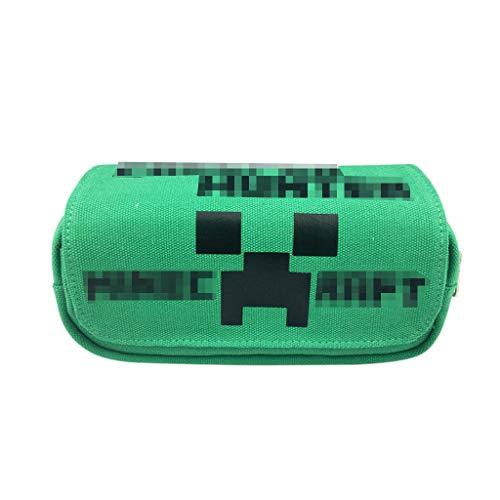 Preisvergleich Produktbild Federmäppchen für Junge - Mäppchen mit Fach Schlamperbox mit 2 Reißverschlüssen und Klettverschluss