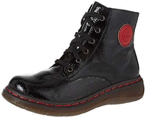 Rieker Damen Y3200 Mode-Stiefel, Black/Flamme 01, 39 EU