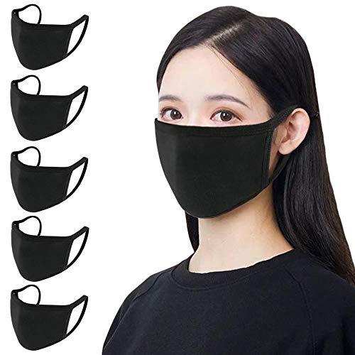 Juego de 5 máscaras de algodón unisex, reutilizables, lavable