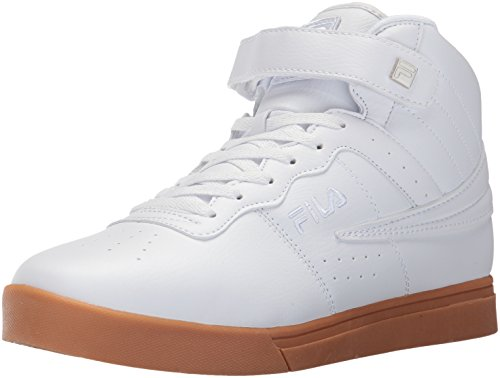 Fila Men's Vulc 13 MID Plus 2 Walking Shoe, White/Silver/Gum, 10 D US