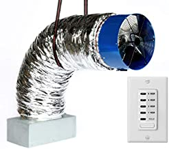 QA-Deluxe 6500(W) Energy Efficient Whole House Fan | R-5 Insulated Damper | 2-Speed Wall Switch & Digital Timer | 2-Story Homes to 4400 sqft & 1-Story Homes to 3000 sqft