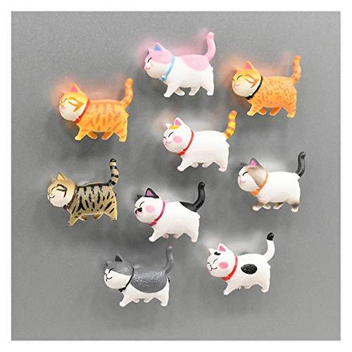 DONGMAISM Imán de refrigerador 1 unid Lindo Mini imanes imán de Nevera de Dibujos Animados Gato 3D Pegatina magnética Mensaje de Cocina Refrigerador Imán Frigorífico (Color : 2)