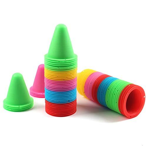 Conos De Agilidad Cono Entrenamiento Futbol Cono De Marcadores Conos De Actividad Conos para Niños Colores Conos Educativos Cono De Práctica De Plástico Color Aleatorio De Slalom (20 Pcs)