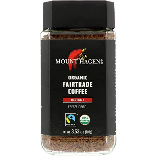 Limited Edition Mount Hagen Organic Freeze Dried Instant Coffee, 3.53 oz