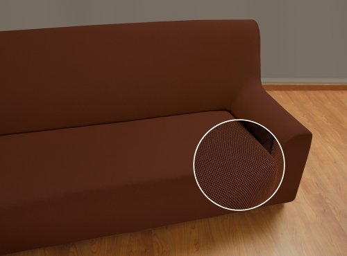 Velfont – Bielastischer Sofabezug Universal - 2-Sitzer - Braun - verfügbar in verschiedenen Größen und Farben