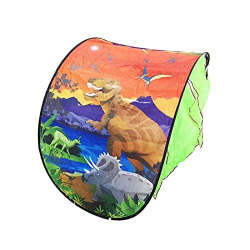 XXY Niños Dream Bed Tents Almacenamiento Bolsillo Niños Niños Noche Noche Dormir Plegable Pop up Colchón Tienda Playhouse 2 (Color : Dinosaur)