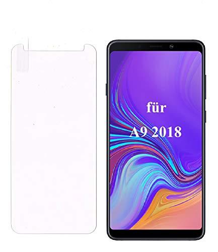 Smartphone-Equipment [2er Pack] Panzerglas für Samsung Galaxy A9 2018 Echt-Hartglas 9H, Glasfolie Schutzfolie Glas Folie Panzerfolie Bildschirm Schutz