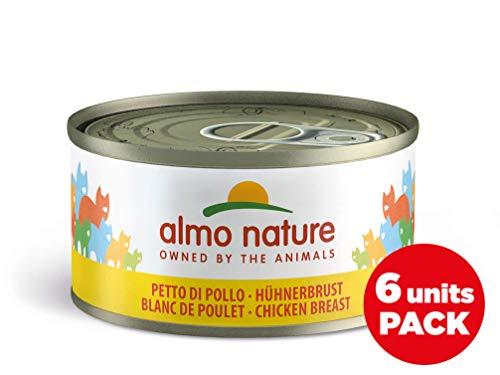 Almo Nature Megapack Petto di Pollo -Cibo umido naturale per gatti adulti (6 x 70gr-lattina)