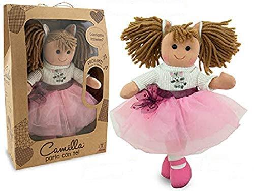 bambola camilla Teorema 66498 - Bambola di pezza con Voce Camilla Gattina