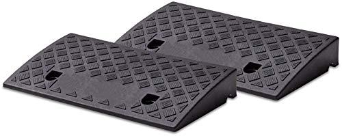 Cartrend 10646 Set di 2 rampe in plastica per auto, moto, sedia a rotelle, deambulatore, nero