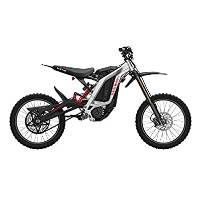 Segway Ninebot Electric Dirt Bike Motocross, Dirt eBike X160, Mighty Torque and Super Lightweight, Black, Sliver, Red, Blue, AA.00.0000.23, Silver