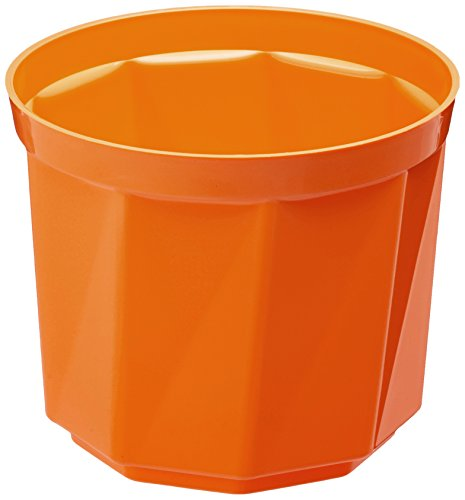 Plastkon Décoration Pot Rose Diamètre 19 cm, Orange