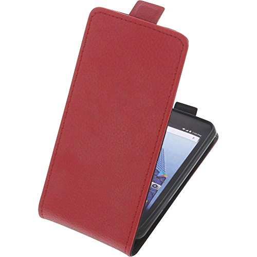 foto-kontor Tasche für Archos Access 45 4G Smartphone Flipstyle Schutz Hülle rot