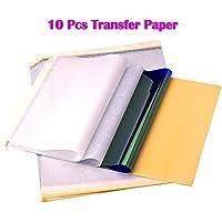 ATOMUS 10 hojas Tattoo Transferpapier Carbon Thermal Tracing Carbon plantilla papel Transfer Kopierpapier A4 tamaño para Tattoo impresora máquina