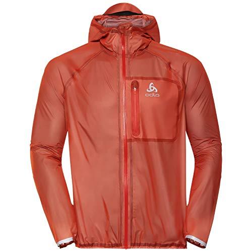 Odlo Herren Zeroweight Dual Dry Jacke, Mandarin red, S