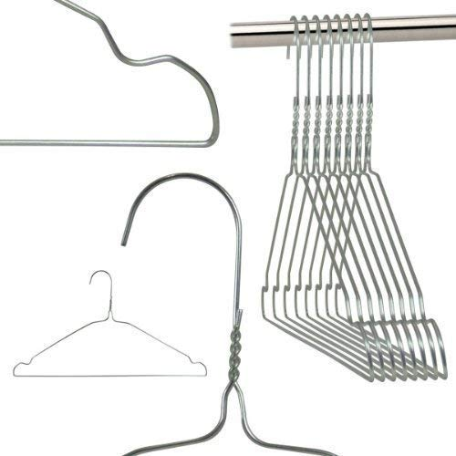 Hangerworld 100 Perchas 40cm de Metal Ahorra Espacio con Muescas Tintorerías Ideal para Camisas