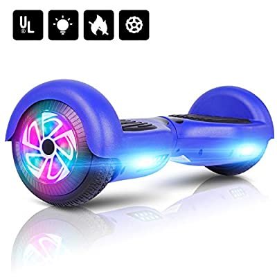 """LIEAGLE Hoverboard 6.5"""" Two-Wheel Self Balancing Electric Scooter UL 2272 Certified with LED Lights Flash Lights Wheels"""
