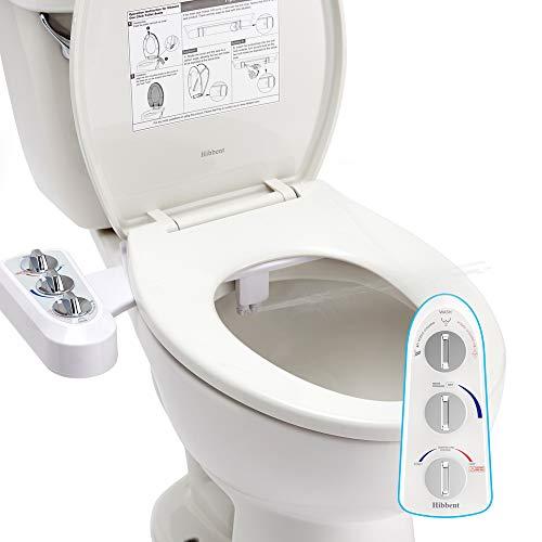 Hibbent Bidés, Ducha-bidé de WC con agua caliente para la higiene íntima Boquilla de autolimpieza - Accesorio de WC de...