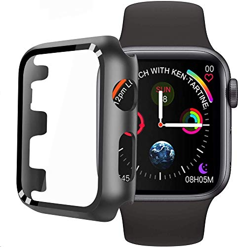 Hard Case for Apple Watch Series 3 / Series 2/1 38mm with Built-in Tempered Glass Screen Protector [ Waterproof] [3D Full Coverage] All Around Cover Bumper Case for iwatch 38mm Series 3/2/1