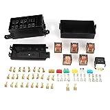 Unibell 6-Way Car Fuse Box con 1pc 4p 12v e 5pcs 100A trasparenti Relè Shell for navi Gare di Auto