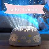 LED Nachtlicht für Kinder'blaue Wolken', Sternenprojektor, Farbwechsel Modi für Kleinkinder und...