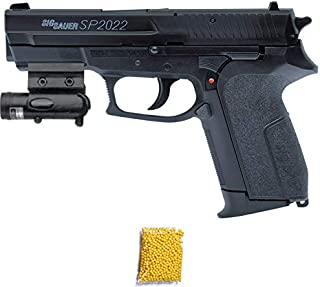 SP2022 Cybergun Sig Sauer HPA - Pistola de Airsoft Calibre 6mm (Arma Aire Suave de Bolas de plástico o PVC). Sistema: Muelle. <3,5J