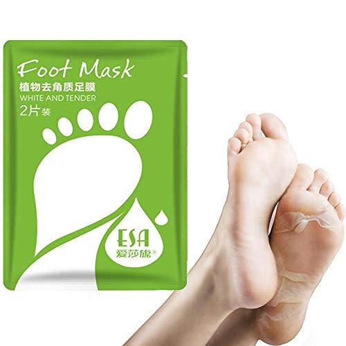 Masque Plante Du Pied - 2 Packs Masque Pieds Exfoliante, Essence Végétale Hydratante Renforce Lisse Masque Pied De La Peau, La Peau Morte Enlève Masque Pied