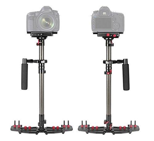 Gowe palmare portatile regolabile in fibra di carbonio fotocamera video stabilizzatore per Canon Nikon DSLR videocamera DV video 1/10,2cm vite