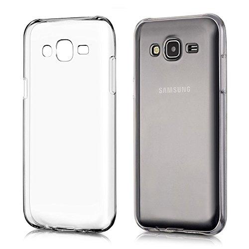 REY Funda Carcasa Gel Transparente para Samsung Galaxy J5 Ultra Fina 0,33mm, Silicona TPU de Alta Resistencia y Flexibilidad