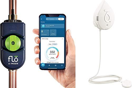 Moen 900-001 Flo by Moen 3/4-Inch Smart Water Shutoff and Moen 920-004 Smart Water Detector