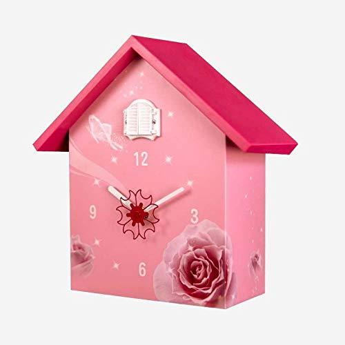 Tnaleve Relojes de Paredreloj de Pared de Cuco de Reloj Simple Rosa 3D