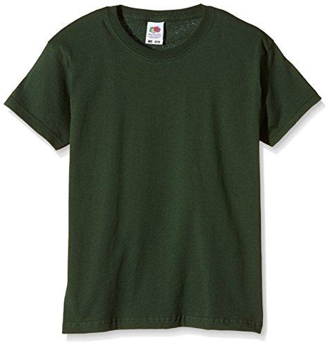 Fruit of the Loom SS132B - T-Shirt - Fille - Green (Bottle Green) - 140 Cm, 9-11 Ans