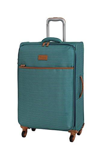 it luggage Beach-Stripes 4 Wheel Lightweight Semi Expander Medium With Tsa Lock Suitcase, 70 cm, 90 L, Teal Stripes