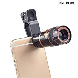 Jyoti 8X Mobile Lens Blur Background Effect Telescope HD Lens Kit with DSLR Adjustable Focus HD Pictures for All Smartphones