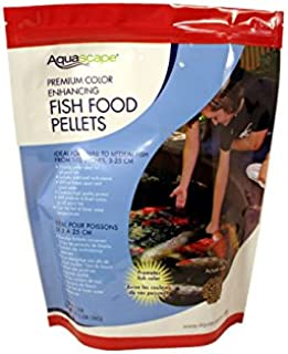 Aquascape Premium Color Enhancing Fish Food for Small to Medium Koi and Other Pond Fish, Medium Pellet, 2.2 Pounds   98874