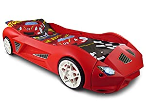 Storm Racing Car Bed With Working Headlights & Sounds