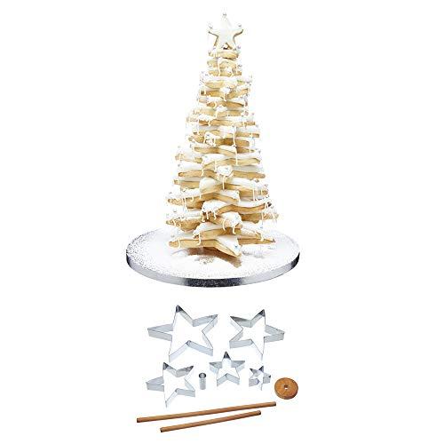 Kitchen Craft Sweetly Does It - Set di formine per biscotti 3D con albero di Natale, 9 pezzi