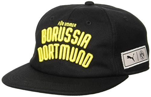 Puma BVB Premium Downtown Cap Kappe, Black-Cyber Yellow, Adult