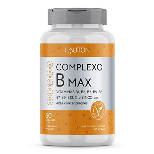 Complexo B Max - 60 Cápsulas - Lauton Nutrition, Lauton Nutrition