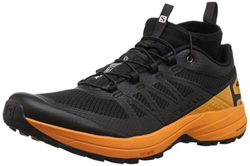 SALOMON XA Enduro, Chaussures de Trail Homme, Noir (Black/Bright Marigold/Black 000), 42 EU