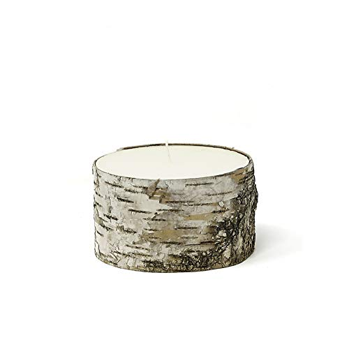 Serene Spaces Living Birch Bark Candle, Large Size – Pillar Style Candle Brings Nature Indoors, Ideal for Weddings, Parties, Events, Restaurants, Home Decor, 5' in Diameter & 3' Tall